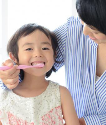 歯磨き中の写真